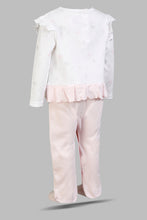 Load image into Gallery viewer, Pink Bunny Printed Frills Sleepsuit