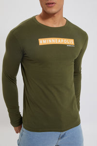 Olive Minneapolis Print T-Shirt