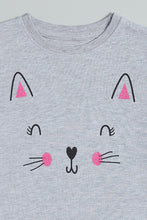 Load image into Gallery viewer, Grey Cat Graphic Printed T-Shirt