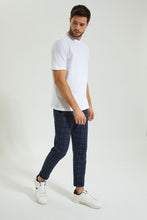 Load image into Gallery viewer, Navy Check Ankle Length Jogger
