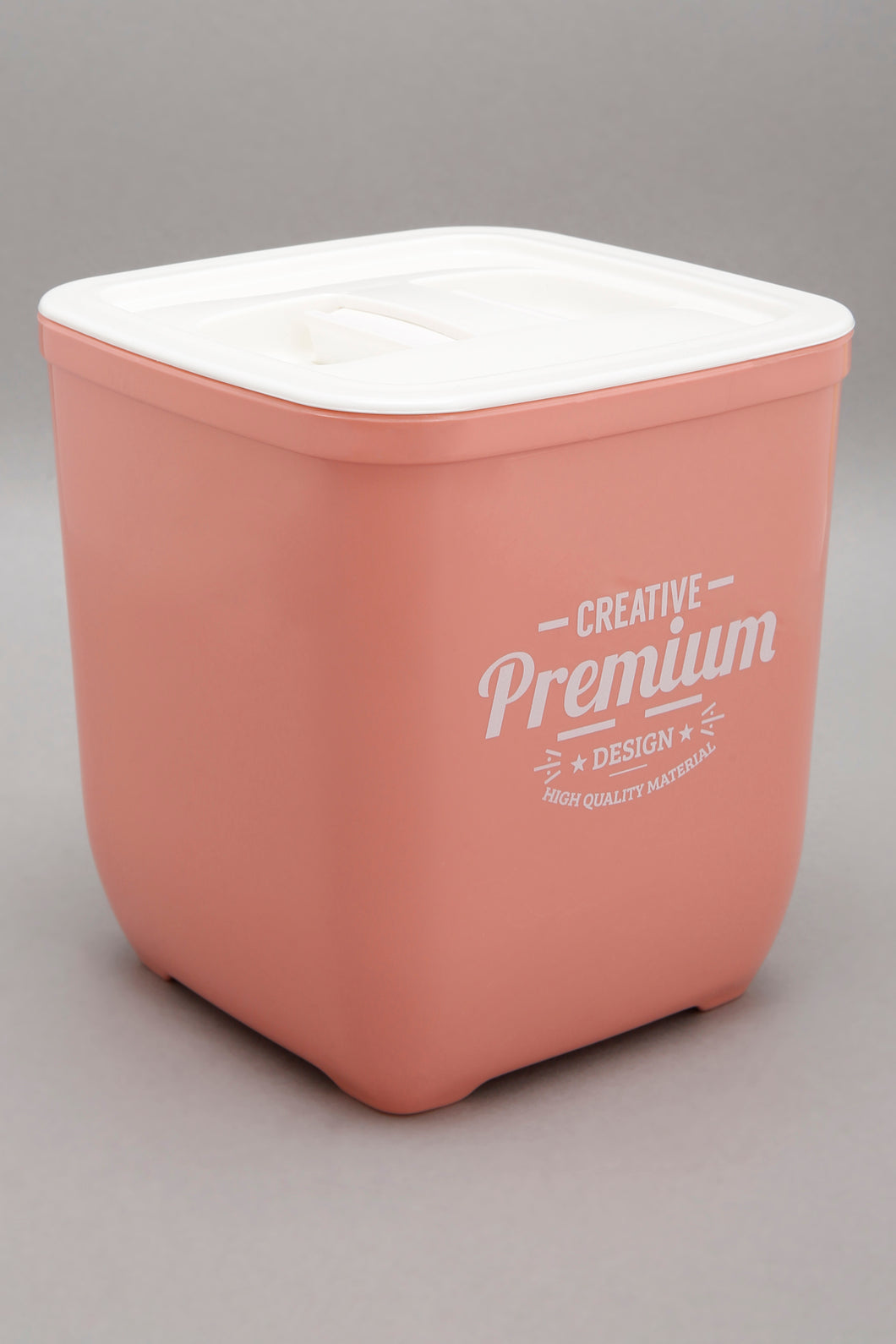 Pink Square Storage Jar With Lid (Large)