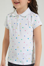 Load image into Gallery viewer, White Heart Print Polo