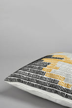 Load image into Gallery viewer, Black and Mustard Embroidery Cushion