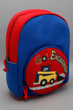 Load image into Gallery viewer, Blue And Red Printed Backpack