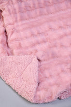 Load image into Gallery viewer, Pink Faux Fur Reversible Throw