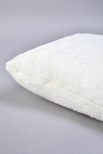 Load image into Gallery viewer, Ivory Faux Fur Cushion