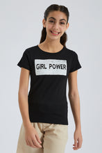 Load image into Gallery viewer, Black Girl Power Reversible Sequin T-Shirt