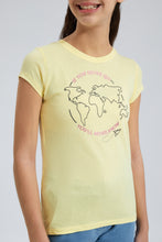 Load image into Gallery viewer, Yellow Earth Graphic Print T-Shirt