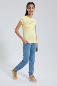 Yellow Earth Graphic Print T-Shirt