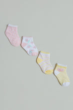 Load image into Gallery viewer, Multicolour Ankle Length Socks (Pack of 4)
