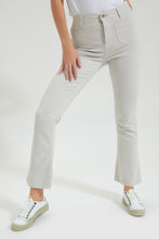 Load image into Gallery viewer, White Flared Jeans