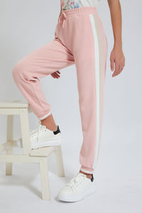 Pink Colourblocking Joggers