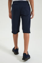 Load image into Gallery viewer, Navy Knit Short