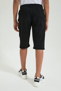 Black Knit Short