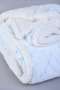 Blue Reversible Textured Blanket (Double Size)