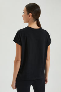 Black Studded T Shirt