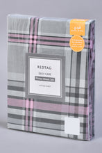 Load image into Gallery viewer, Grey Check Fitted Sheet (Single Size)