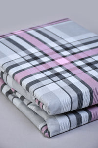Grey Check Fitted Sheet (Single Size)