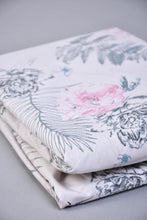 Load image into Gallery viewer, Pink Floral Print Fitted Sheet (King Size)