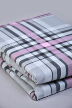 Load image into Gallery viewer, Grey\Pink Check Fitted Sheet (Super King Size)