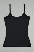 Load image into Gallery viewer, Black Plain Strappy Vest