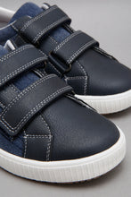 Load image into Gallery viewer, Navy Material Block Sneaker