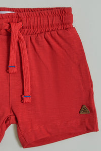 Red Jersey Short