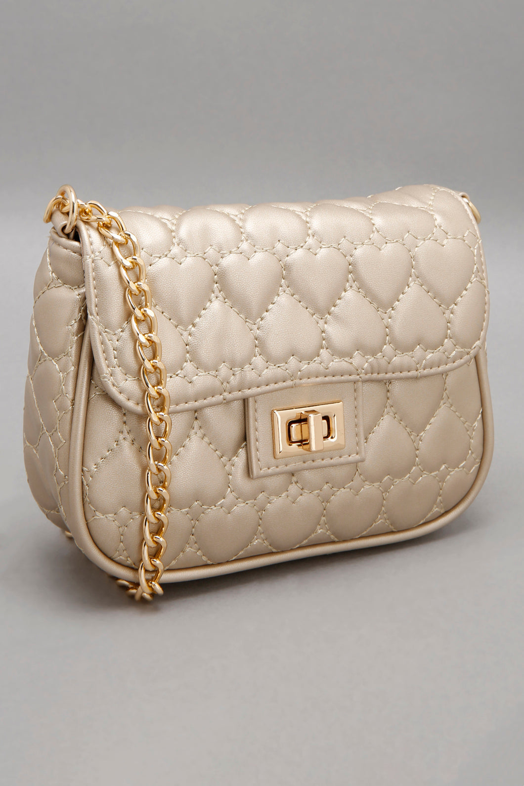 Gold Quilted Crossbody Bag