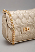 Load image into Gallery viewer, Gold Quilted Crossbody Bag