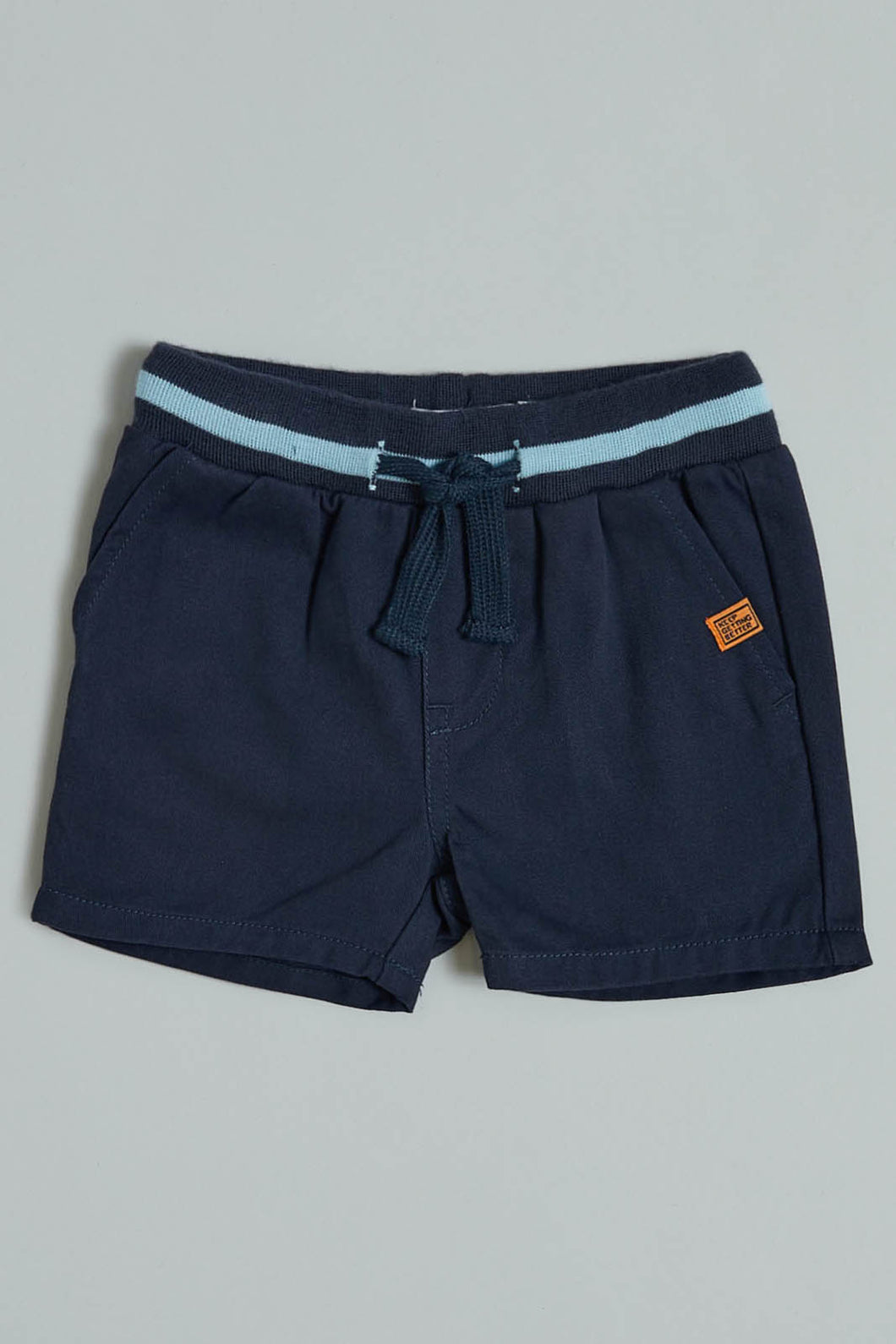 Navy Pull On Trouser Shorts