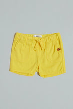 Load image into Gallery viewer, Yellow Pull With Rib Waistband Short