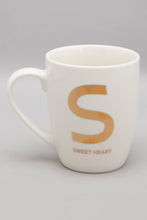 Load image into Gallery viewer, White Alphabet Mug -S