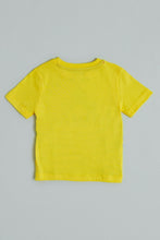 Load image into Gallery viewer, Yellow Shark Attack Print T-Shirt