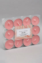 Load image into Gallery viewer, Coral Peach Berry Small Tea Lights Set (12 Piece Set)