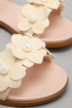 Load image into Gallery viewer, Gold Floral Trim Sandal