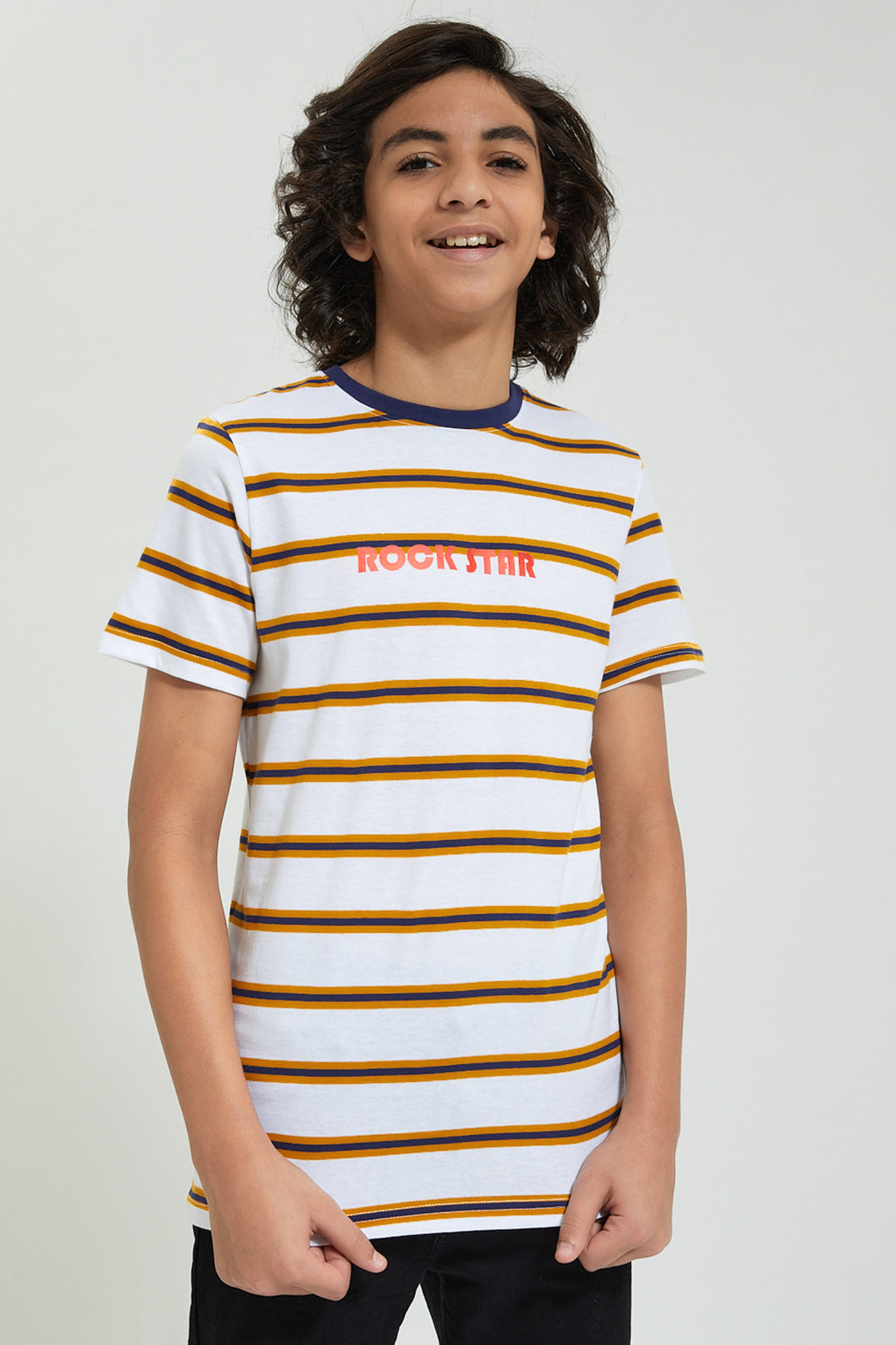 White/Yellow Striped T-Shirt