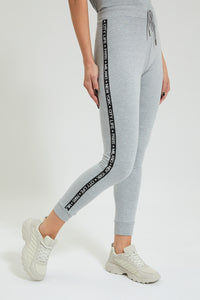 Grey New York City Side Tape Jogger