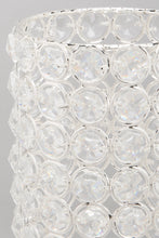 Load image into Gallery viewer, Silver Crystal Beaded Pillar Candle Holder