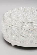 Load image into Gallery viewer, Silver Crystal Beaded Trinket Box