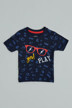 Load image into Gallery viewer, Navy Yes Play All Over Print Tshirt