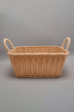 Load image into Gallery viewer, Brown Square Woven Basket With Handles