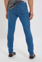 Load image into Gallery viewer, Blue Skinny Fit Stretch Denim Jeans