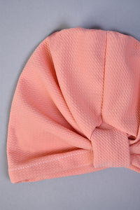 Pink Modest Cap With Front Knot