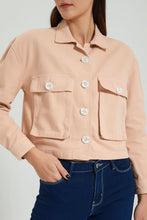 Load image into Gallery viewer, Pink Oversize Denim Jacket