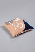 Load image into Gallery viewer, Beige Abstract Face Cushion