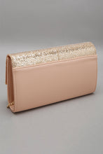 Load image into Gallery viewer, Gold Glitter Embellished Evening Clutch