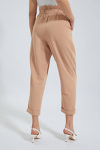 Load image into Gallery viewer, Beige High Waisted Straight Pant