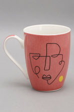 Load image into Gallery viewer, Coral Picasso Printed Mug
