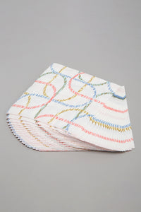 Assorted Geometric Printed Paper Napkins (20 Piece Set)