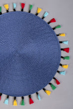 Load image into Gallery viewer, Navy Round Woven Placemat